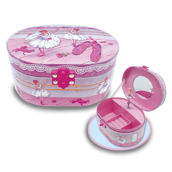 Versil Ballerina Beauties Multicolored Oval Musical Jewelry Box