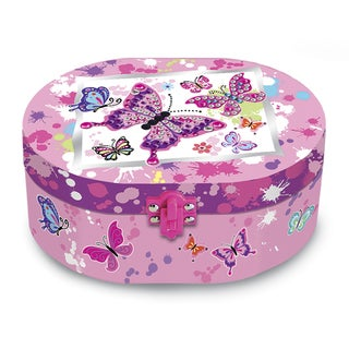 Versil Paradise Oval Musical Jewelry Box