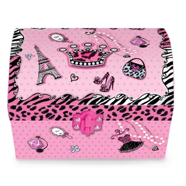 Versil Children's Diva Oval Musical Jewelry Box
