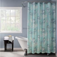 Lurex Floral Polyester Shower Curtain with 12 Hooks