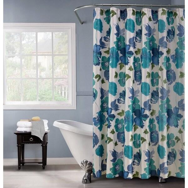 Floral Spring Lurex 13-piece Shower Curtain Set