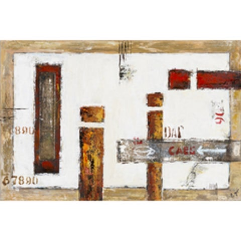 """Abstract Nadine Rectangular Unframed Painting 24"""" x 36"""""""