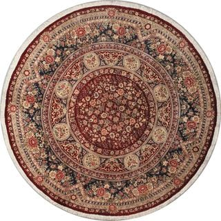 eCarpetGallery Purple/Red Wool Hand-knotted Double-knot Rug (9'2 x 9'2)