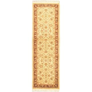 eCarpetGallery Pako Persian Hand-knotted 18/20 Beige/Multi/Red Wool Rug (2'7 x 8'6)