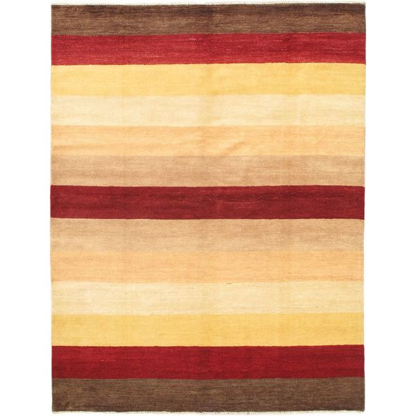eCarpetGallery Finest Ziegler Chobi Beige/Red Wool Hand-knotted Rug (5'10 x 7'8)