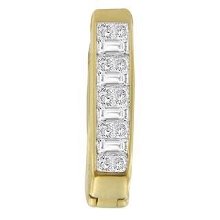 14kt Yellow Gold 1/2ct TDW Princess and Baguette-cut Diamond Earrings (H-I,SI1-SI2)