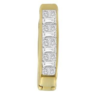14K Yellow Gold 1/2ct TDW Princess and Baguette-cut Diamond Earrings (H-I,SI1-SI2)|https://ak1.ostkcdn.com/images/products/11854117/P18755032.jpg?impolicy=medium