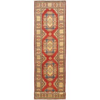 eCarpetGallery Gazni Hand-knotted Pink Wool Rug (2'10 x 11'1)