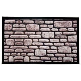 Home Fashion Designs Weaver Collection Stone Walkway Printed Indoor/Outdoor Non-Slip Welcome Mat