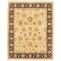 eCarpetGallery Hand-Knotted Chobi Twisted Beige/Pink Wool Rug (8'2 x 10'2)