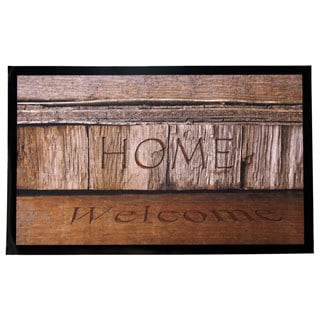 Home Fashion Designs Weaver Collection Welcome Home Indoor/Outdoor Non-slip Door Mat