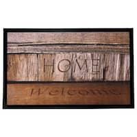 Home Fashion Designs Weaver Collection Welcome Home Indoor/Outdoor Non-slip Door Mat