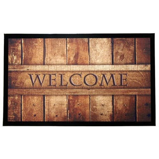 Home Fashion Designs Weaver Collection Printed Indoor/Outdoor Non-Slip Welcome Mat