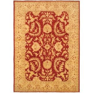 eCarpetGallery Chobi Finest Hand-knotted Beige Wool Rug (12'4 x 17'3)