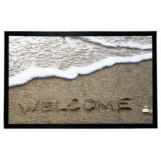 Home Fashion Designs Weaver Collection Beach Theme Printed Indoor/Outdoor Non-Slip Welcome Mat