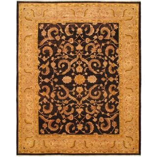 eCarpetGallery Chobi Beige Hand-knotted Wool Rug (12'9 x 15'9)