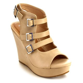 Beston Faux Leather Women's Wedge Sandals
