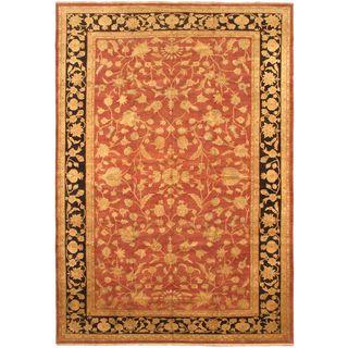 eCarpetGallery Chobi Hand-knotted Orange Wool Rug (12'5 x 18'0)