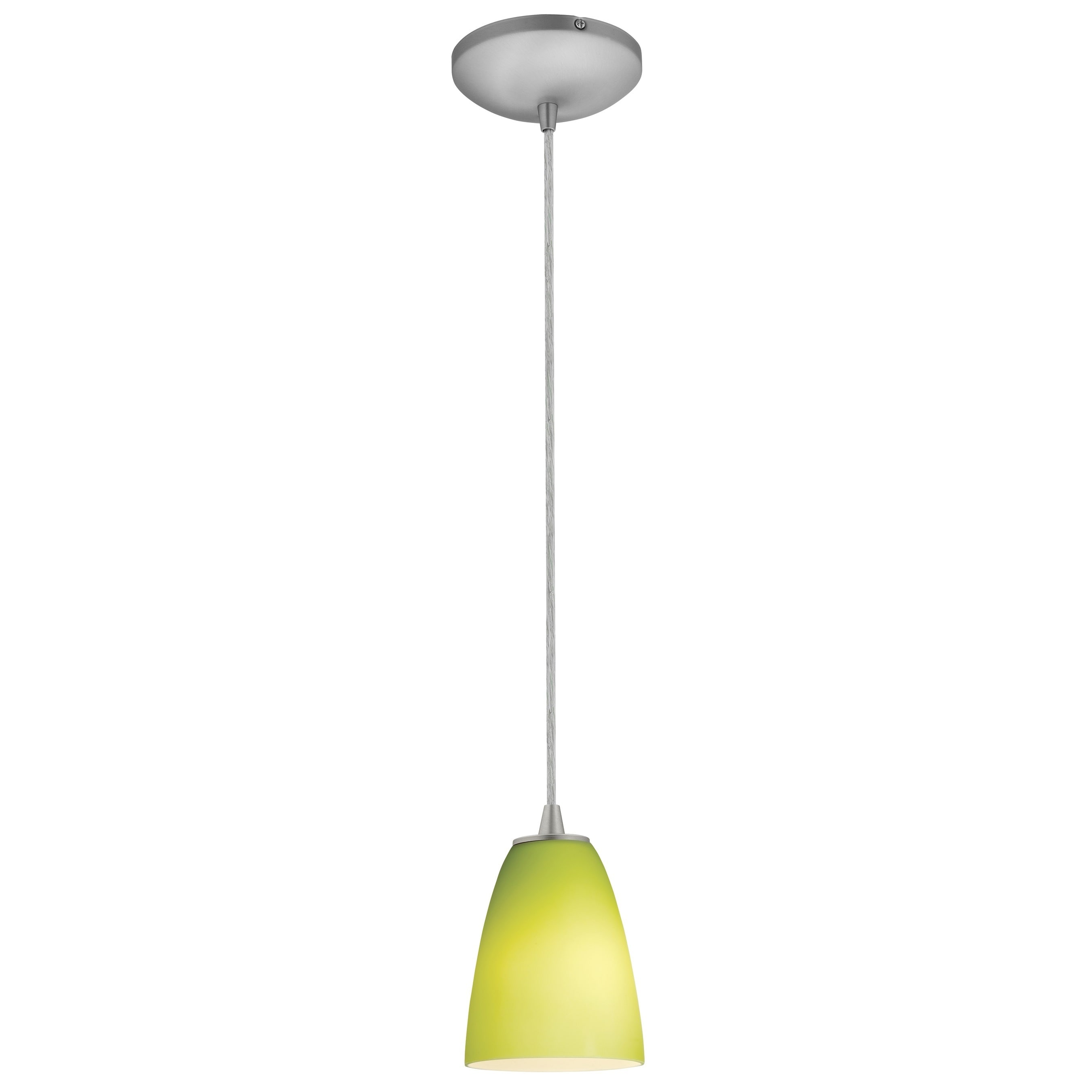 Access Lighting Flute Steel LED Cord Pendant, Lime Green ...
