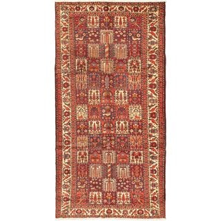 eCarpetGallery Bakhtiar Beige/Red Hand-knotted 5'2 x 10'5 Wool Rug