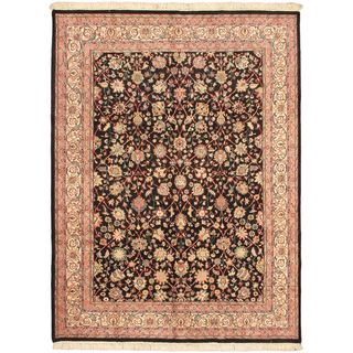 eCarpetGallery Royal Kashan Hand-knotted Pink Wool Rug (9'1 x 12'0)