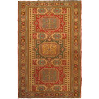eCarpetGallery Nomadic Tribal Hand-knotted Brown/Red Wool Sumak (8'0 x 12'3)