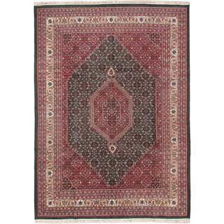 eCarpetGallery Bijar Pink Wool Hand-knotted Antique-style Rug (9'0 x 12'3)
