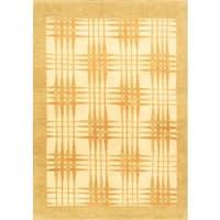 eCarpetGallery Ziegler Chobi Hand-knotted Beige Wool Rug (4'5 x 6'3)