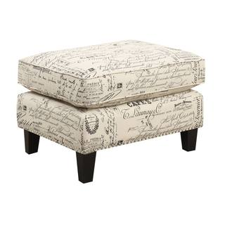 Copper Grove Thorsen French Script Ottoman