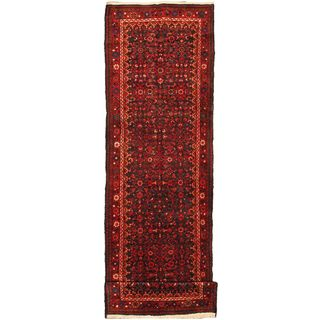 eCarpetGallery Hand-knotted Classic Persian Blue/Red Wool Rug (3'8 x 13'5)