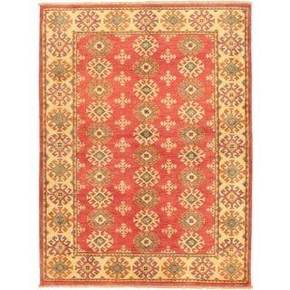 eCarpetGallery Beige Hand-knotted Finest Gazni Wool Rug (4'4 x 5'9)