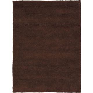 eCarpetGallery Casablanca Beni Hand-knotted Brown Wool Rug (5'8 x 7'8)