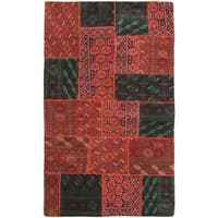 eCarpetGallery Hand-knotted Color Transition Brown Wool Rug (5' x 8')