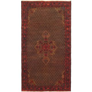 eCarpetGallery Blue Oriental Wool .25-inch x 60-inch x 113-inch Hand-Knotted Rug