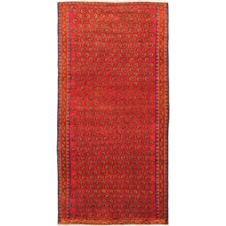 eCarpetGallery Persian Vogue Hand-knotted Orange/Red Wool Rug (4'10 x 9'11)