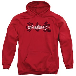 Bloodsport/Kanji Adult Pull-Over Hoodie in Red