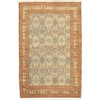 eCarpetGallery Antique Keisari Beige/Blue Hand-knotted Wool Rug (3'9 x 5'8)