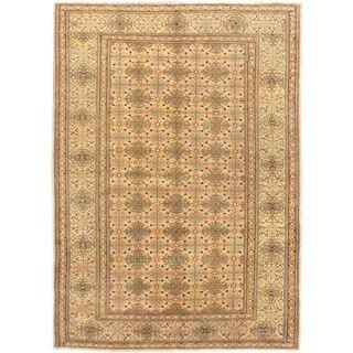 eCarpetGallery Antique Keisari Hand-knotted Beige Wool Rug (4'11 x 6'10)