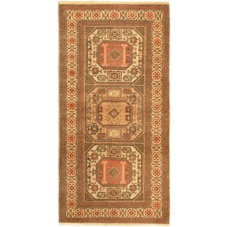 eCarpetGallery Hand-Knotted Antique Anatolian Pink Wool Rug (3'3 x 6'5)