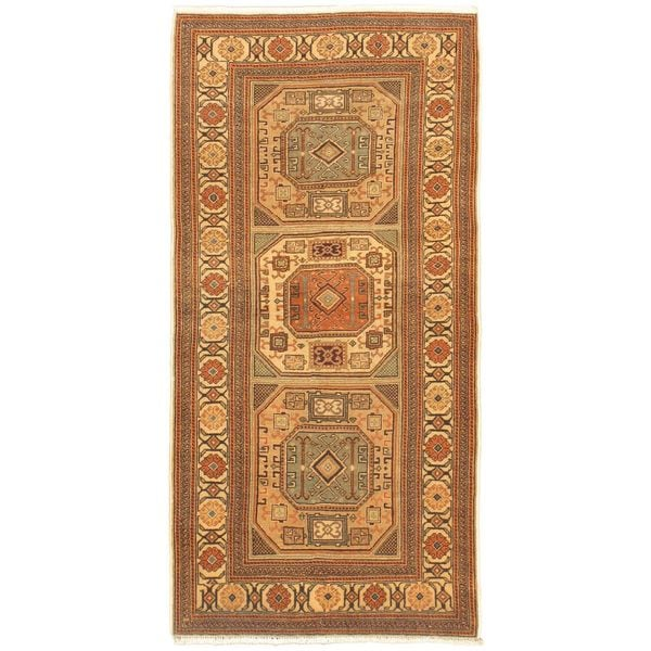 eCarpetGallery Antique Anatolian Hand-knotted Beige Wool Rug (3'2 x 6'0)