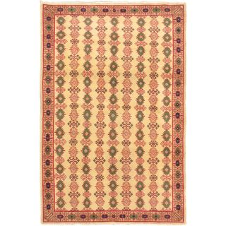 eCarpetGallery Antique Keisari Hand-knotted Green/Pink Wool Rug (3'10 x 5'9)