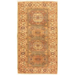 eCarpetGallery Antique Anatolian Hand-knotted Beige and Green Wool Rug (3'2 x 6'5)