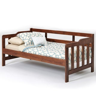 Woodcrest Heartland Brown Pine Wood Daybed