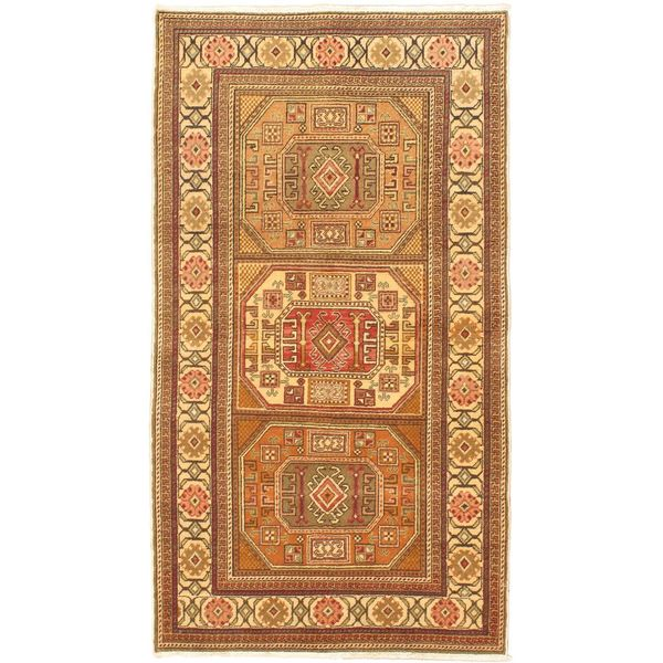 eCarpetGallery Antique Anatolian Beige Wool Hand-knotted Rug (3'3 x 5'11)