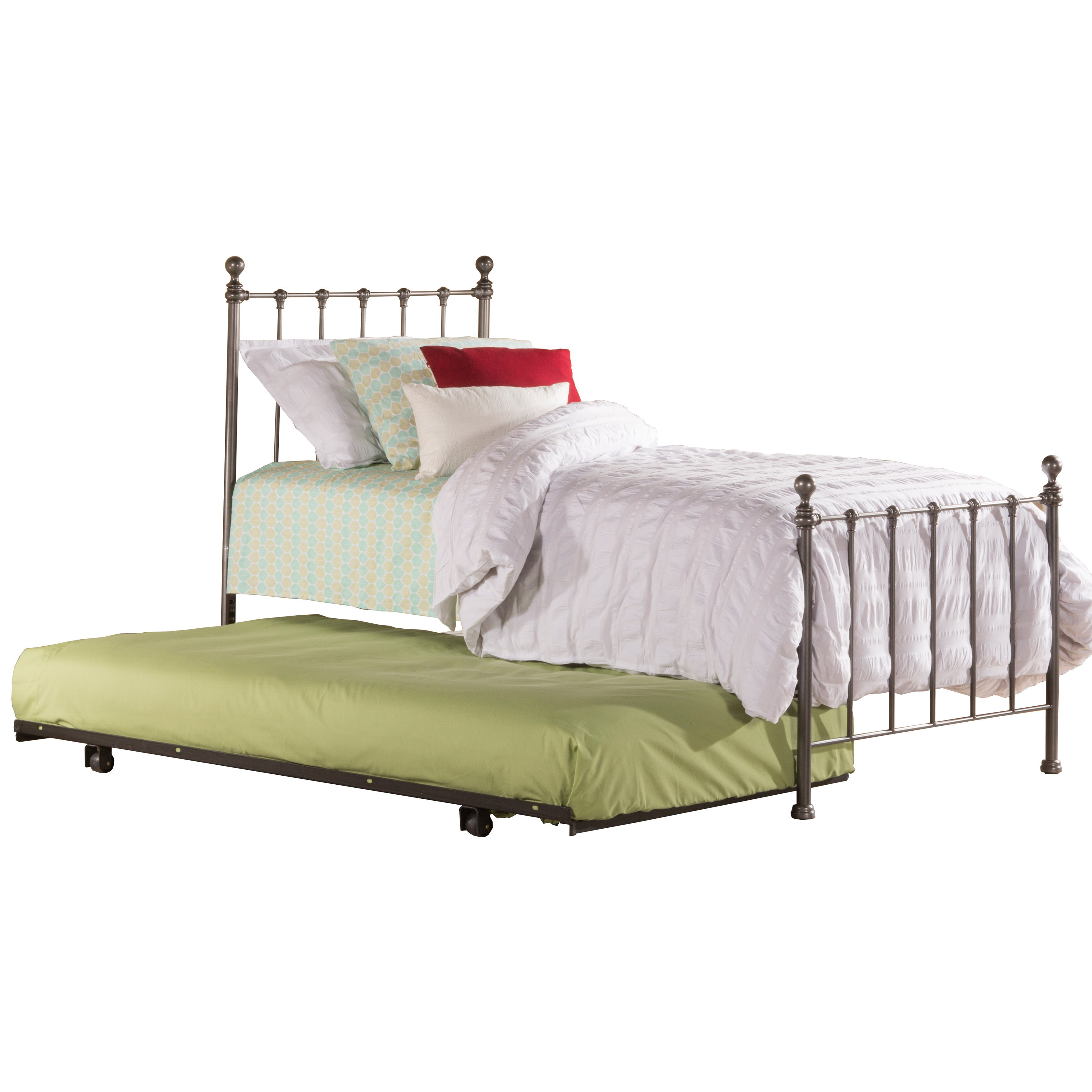 Picture of: Hillsdale Furniture Molly Metal Twin Bed With Trundle Overstock 11854345
