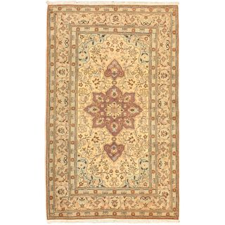 eCarpetGallery Antique Anatolian Hand-knotted Pink Wool Rug (3'11 x 6'5)