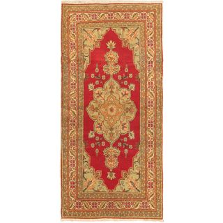 eCarpetGallery Anatolian Hand-knotted Beige Wool Antique Rug (3'0 x 6'7)