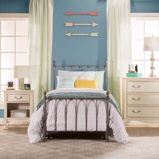 Hillsdale Furniture Molly Silver-finished Metal Twin Bed