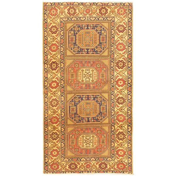 eCarpetGallery Antique Anatolian Hand-knotted Beige/Orange Wool Rug (2'11 x 5'8)