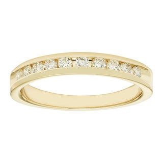 Boston Bay 14k Yellow Gold 1/3ct TDW Diamond Anniversary Band (H-I, I1-I2)